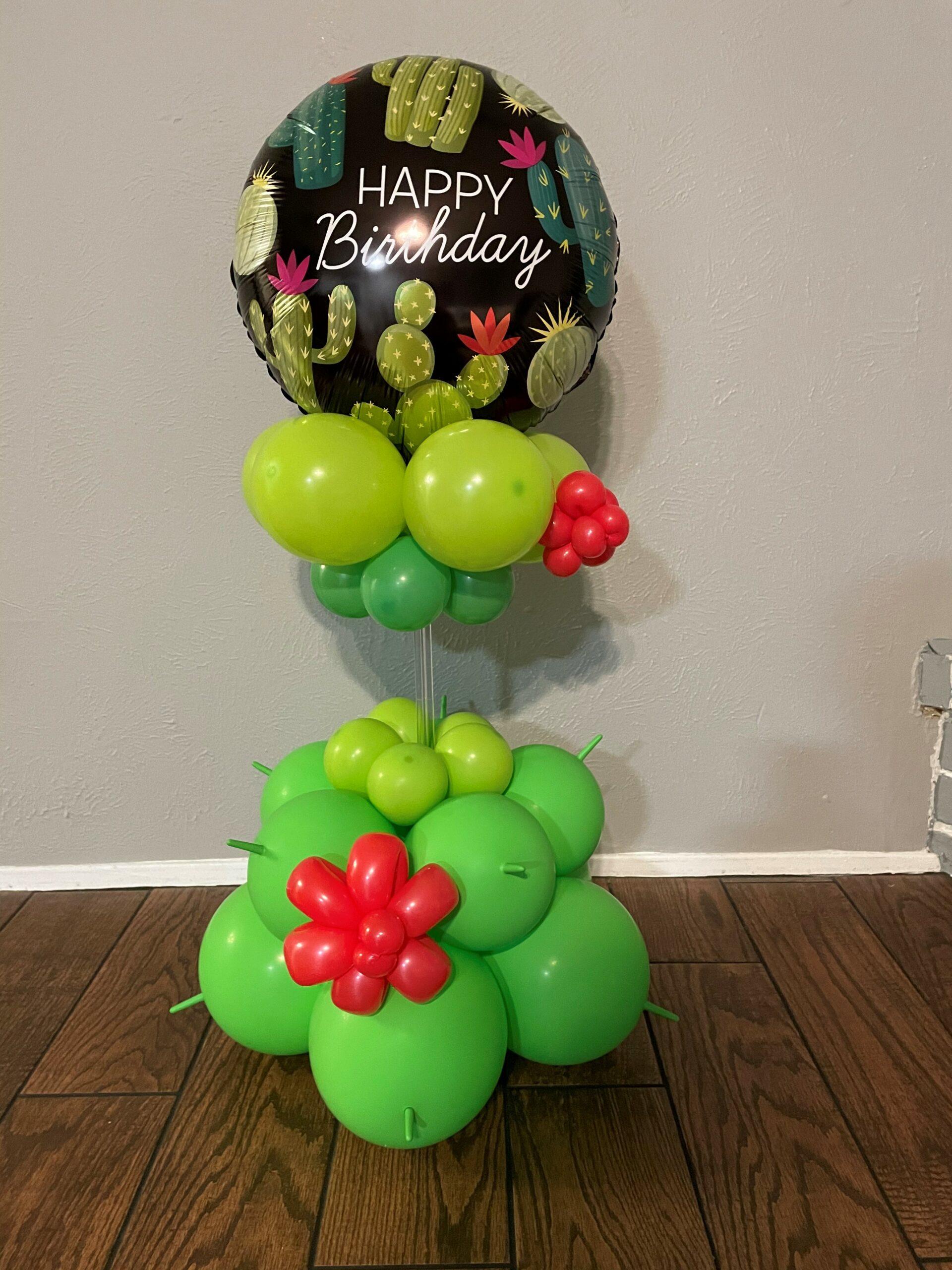 Cactus Birthday Table Decor